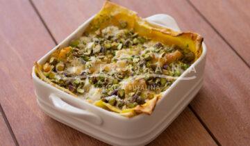 Lasagnetta alla zucca gratinata al pistacchio
